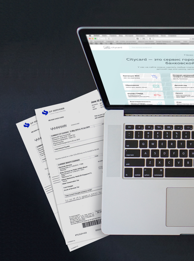 Citycard as a website and iOS application
