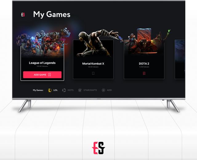 eSports TV App Concept