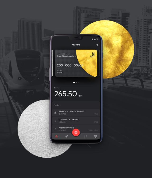 Dubai Public Transportation App Concept